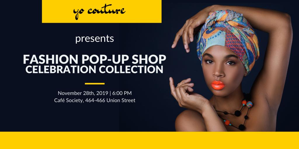 yo couture pop-up shop Aberdeen